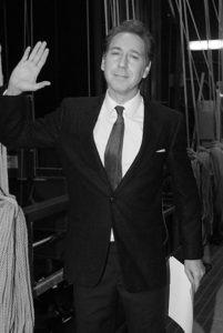 Mingo De Pasquale durante l'interpretazione di Mike Buongiorno