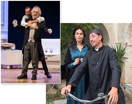 """Mingo in """"Volevo il maggiordomo"""" e nel """"Il monachello"""" insieme a Mariagrazia Cucinotta"""